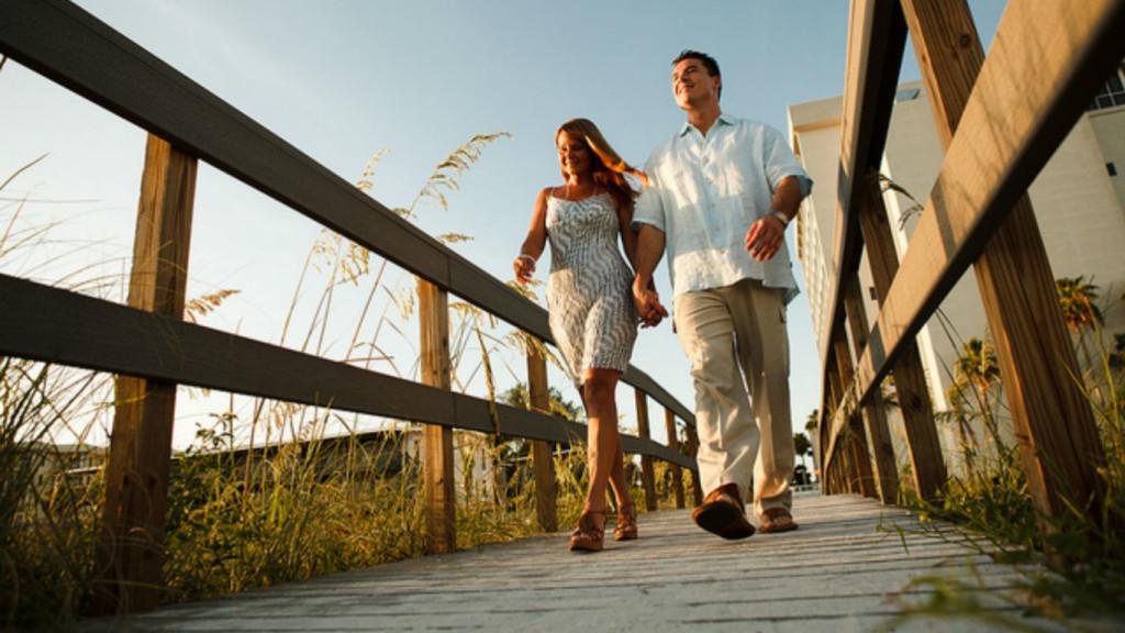 Couple on a path
